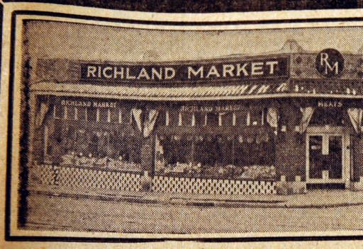 Richland Market, from the Nashville Times, 1940 :: Nashville Public Library Digital Collection