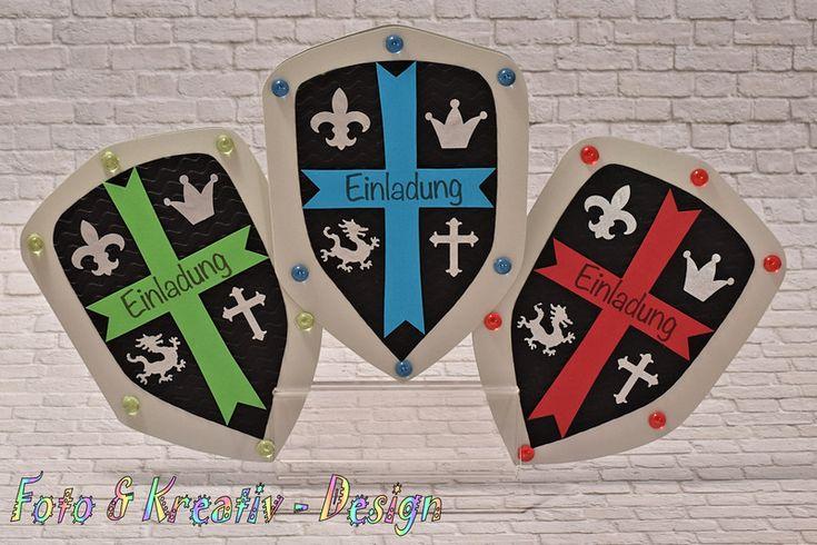 Einladungskarten - Ritter - Einladung Set / 3Stk. - ein Designerstück von Foto-und-Kreativ-Design bei DaWanda