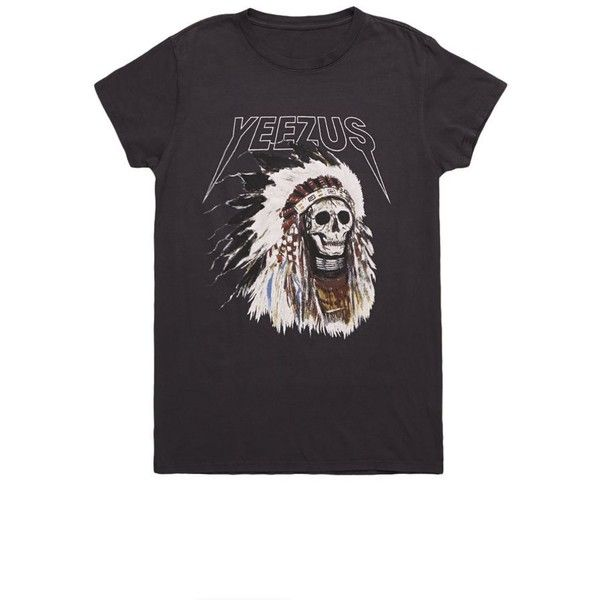 Yeezus Tour Merch Indian Headress T-Shirt ($40) ❤ liked on Polyvore featuring men's fashion, men's clothing, men's shirts, men's t-shirts, tops, shirts, t-shirts, tees, dresses and black