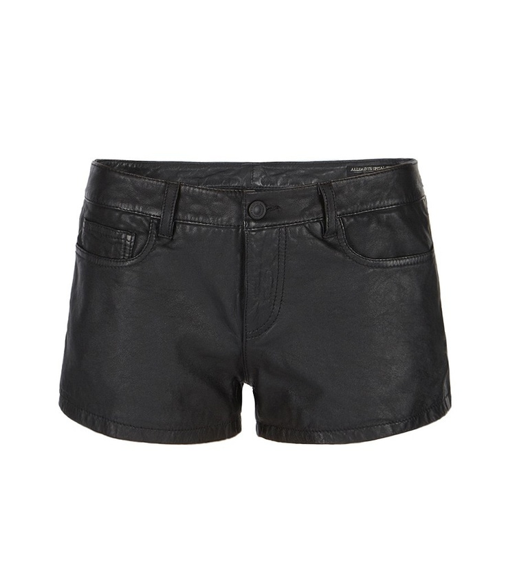 Perry Leather Shorts, Women, Leather, AllSaints Spitalfields