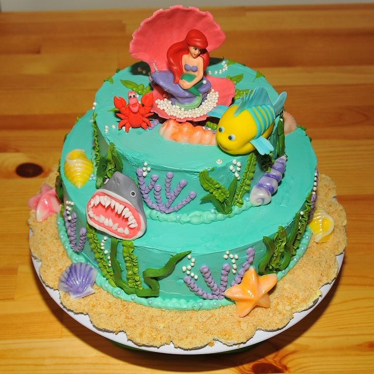 Image result for ariel fondant cake with images