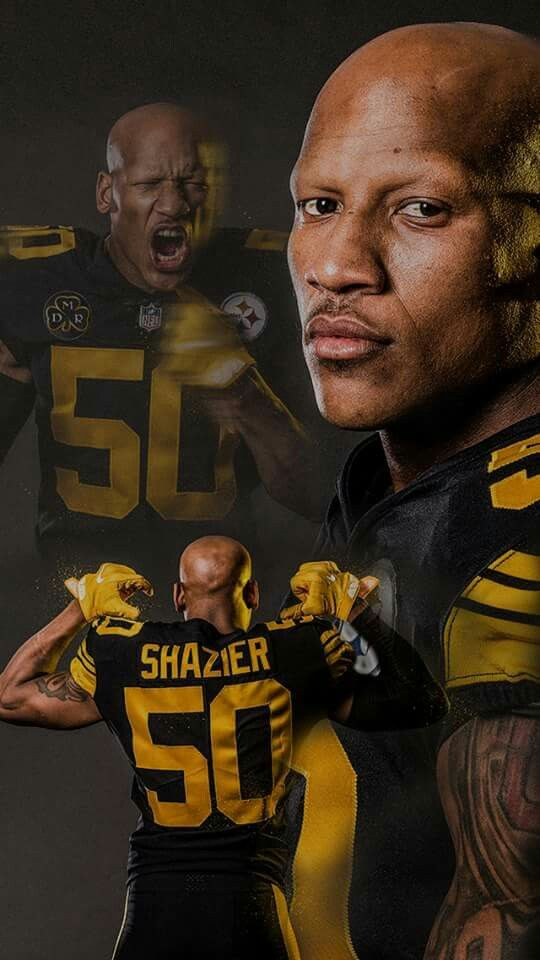 PITTSBURGH STEELERS~#50 Ryan Shazier #PIttsburgh Steelers, The best linebacker in the NFL! 2017