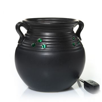 Witch Cauldron W/ LED - LIGHTS UP! (green) : Wax Melts Warmer : Yankee Candle