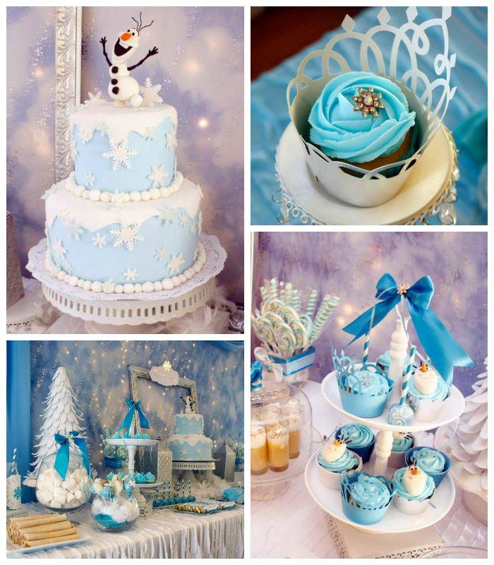 Frozen winter wonderland themed birthday party via Kara's Party Ideas KarasPartyIdeas.com Printables, cake, favors, decor, cupcakes, recipes, supplies, etc! #frozen #disneysfrozen #frozenparty (2)