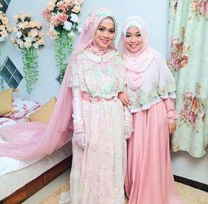 Foto: Inspirasi Gaun Pengantin Syari dari Pernikahan Putri Aa Gym