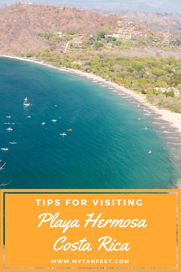 Travel guide to visiting Playa Hermosa in Guanacaste, Costa Rica https://mytanfeet.com/costa-rica-beach-information/playa-hermosa-guanacaste/