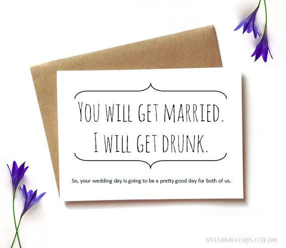 funny wedding card funny engagement engagement by SpellingBeeCards