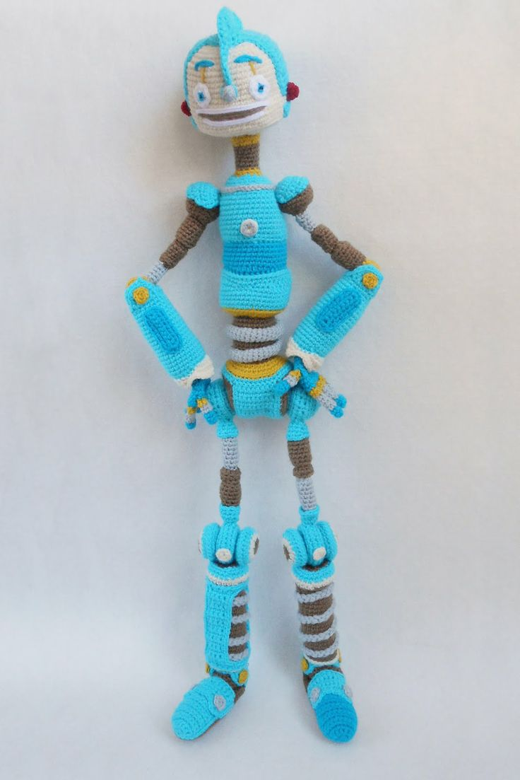 Crochet Rodney Copperbottom Robots