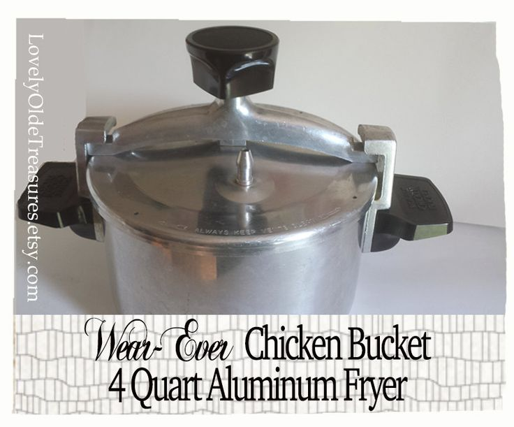 New to LovelyOldeTreasures on Etsy: WearEver Chicken Bucket- Vintage Deep Fryer- Farmhouse Decor- Retro Kitchen Decor- Vintage Cookware- Aluminum Low Pressure Cooker- Stew Pot (39.99 USD)
