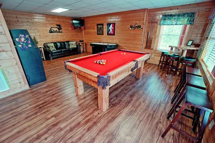 Game Room at The Bigfoot Lodge - Pigeon Forge Vacation Rental Cabin - sleeps up to 16.