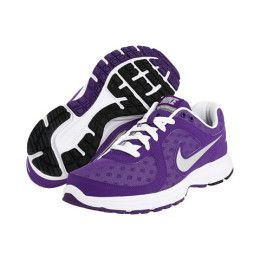 Purple Nike Running Shoes...just to match all the purple gear in my closet. Purple is my favorite color and often times Nike runs pretty good sales on their running shoes which makes them very affordable. From the comfort they provide for a foot that was once broken, I always feel like I make the right decision by supporting and purchasing Nike running shoes.