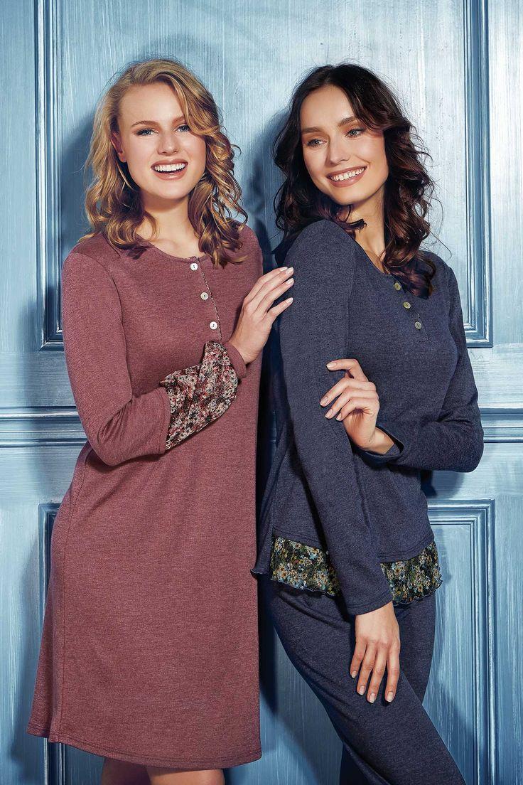 models #AnastasiaBohuckaUchanova and #victoriakarner  in the new Fall/Winter Andra Dreamwear 2015 campaign concept by @LiberiCreativi photographer #danniegarcia