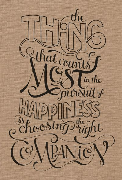 #inspiration #typography pursuit of happiness