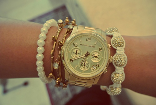 Micheal Kors watch - I'm in love!! They're gorgeous!!
