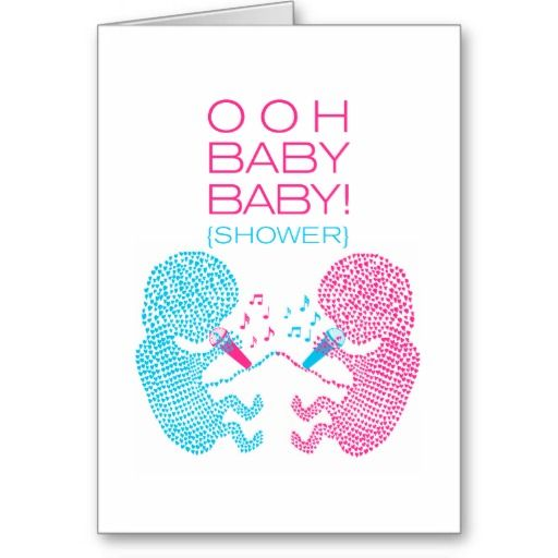 Gifts for Twins Boy and Girl | Twins Baby Shower Invitation Boy and Girl Cards from Zazzle.com