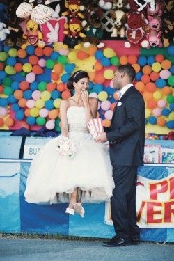 Carnival Wedding Game Booths Pop The Balloon Circus Photoshoot