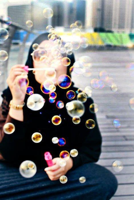 Bubbles #hijab
