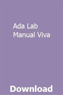 Ada Lab Manual Viva | searlodisda | Tractor loader, Manual