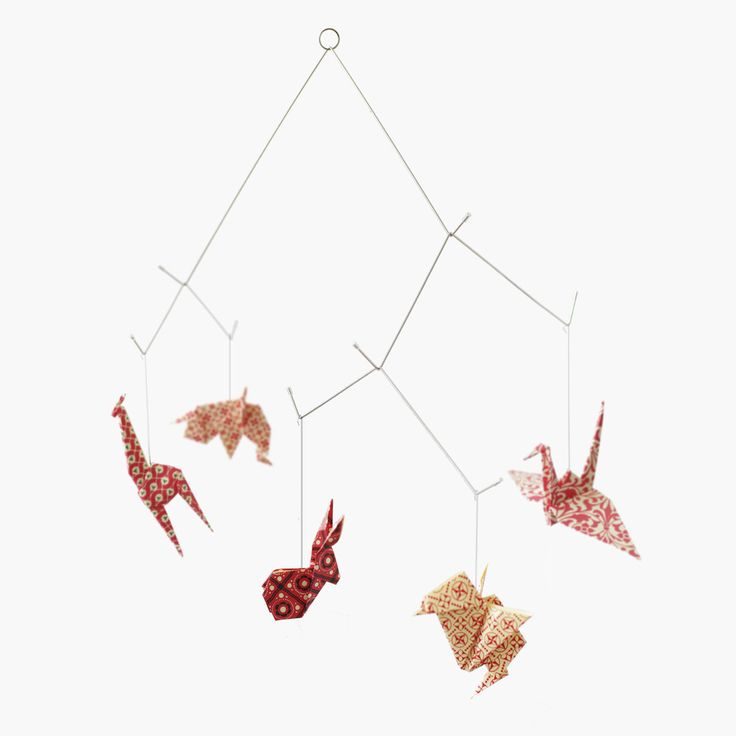 origami animal zoo mobile by kidivist