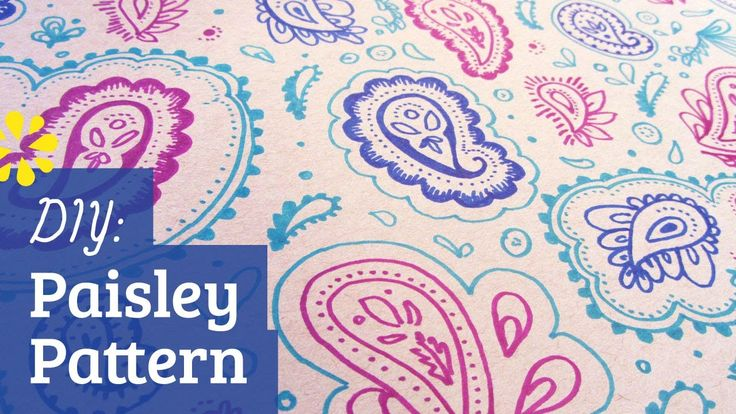 DIY Paisley Pattern — how to make a basic paisley pattern, good for doodling or drawing onto a project :)