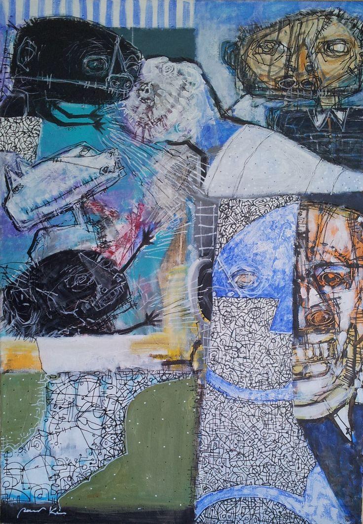 Pawel Kin - healers (acrylic on canvas)
