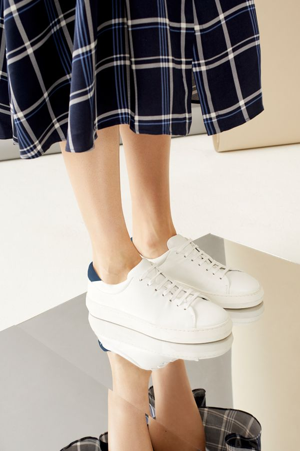 Margot Leather Trainer   Leather