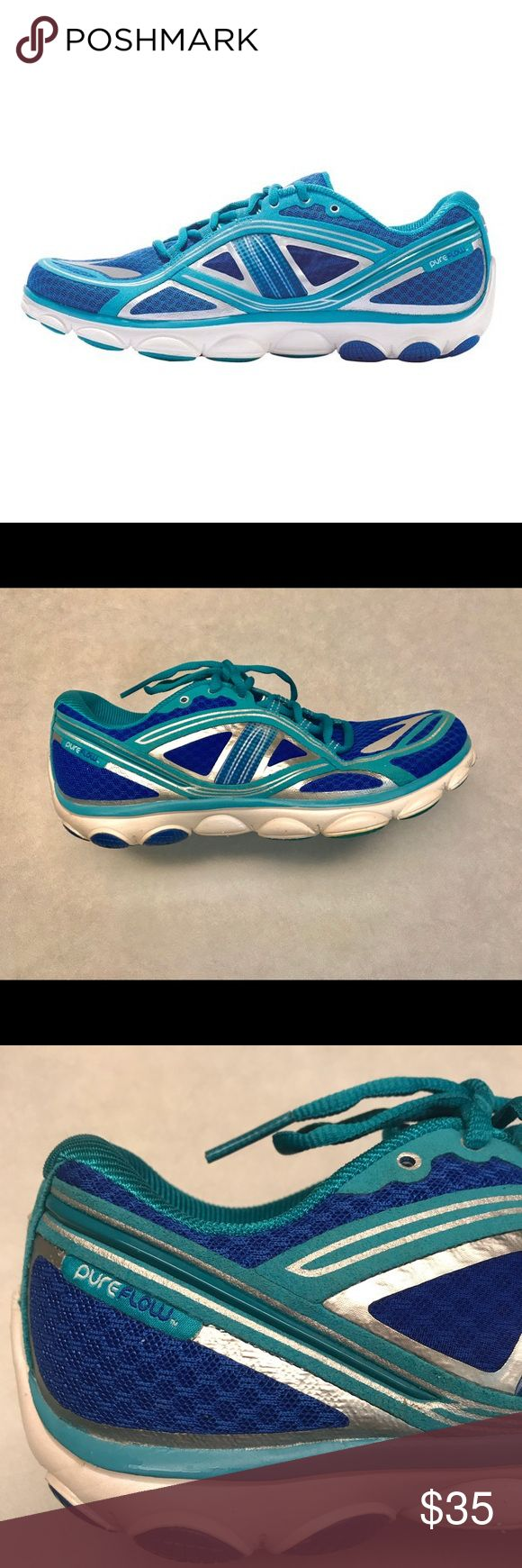 Brooks pure flow 3 lightweight running shoe Brooks pure flow three running shoe. Great condition.Very  little signs of wear.  Size 9. Brooks Shoes Athletic Shoes
