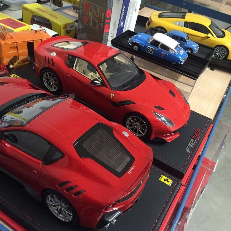 Latest models ! Really love the #F12tdf ! Models available at www.tacot.com #diecast #Ferrari #citroen #modelcar #carporn