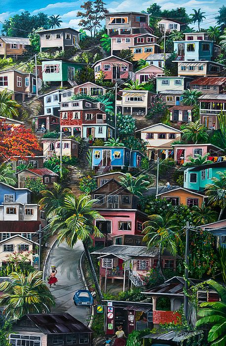 The Hill Trinidad Painting