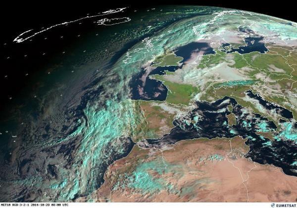 @InfoEmerg Una mirada al tiempo... así está el ambiente: Última imagen satélite #Meteosat 08:00 UTC (09:00 hora local) #FMA