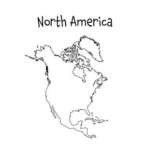 Soft image inside blank north america map printable