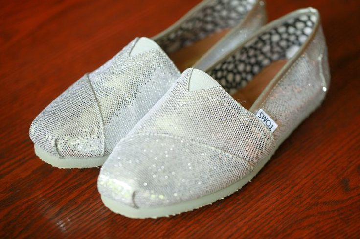 TOMS Wedding Shoes In Silver