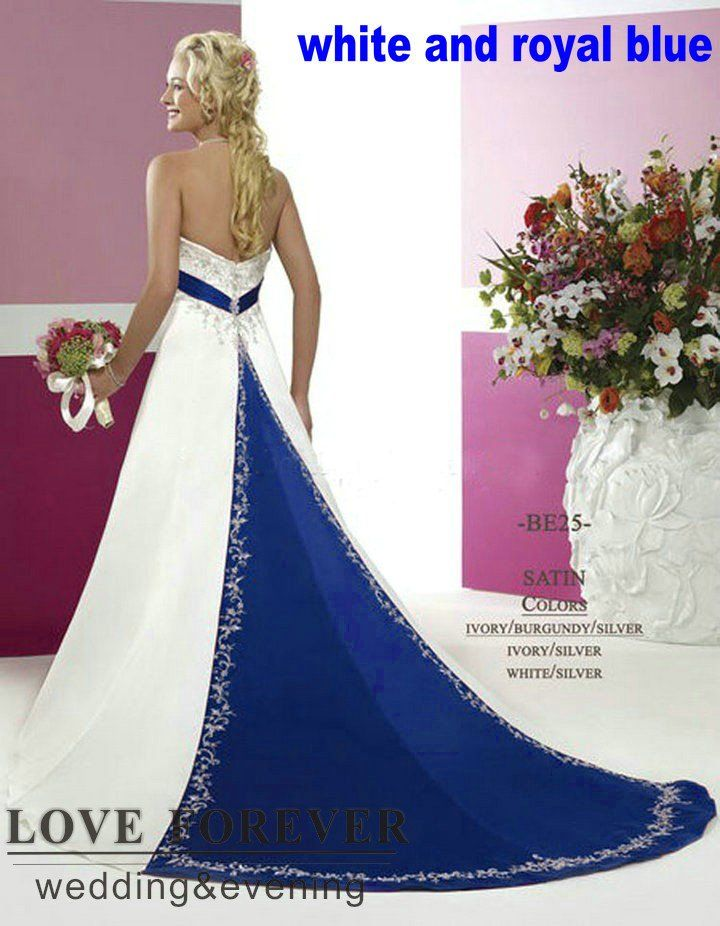 21 best images about royal blue and gray wedding ideas on for White and silver wedding dresses