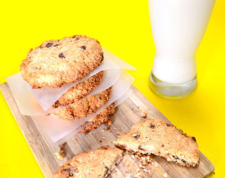 Coconut flour cookies  Galletas de coco sin harina