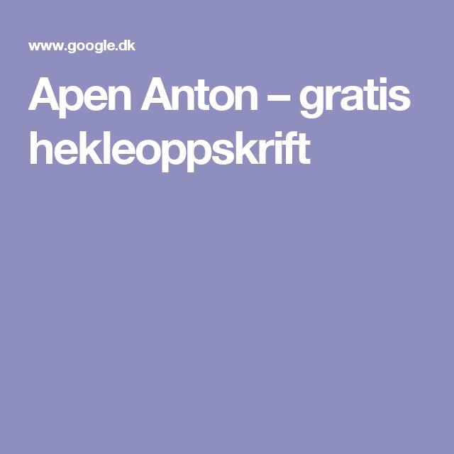 Apen Anton – gratis hekleoppskrift