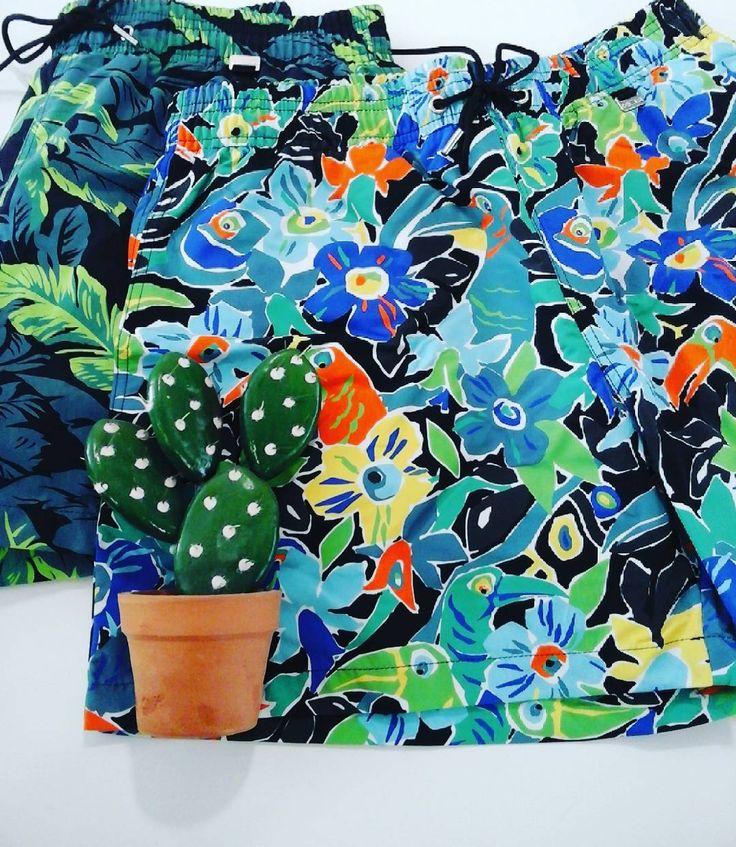 Maillot de bain short HOM flower power #HOM #meyzieu #estlyonnais #fetedesperes #fetesdesperes #ootd #uotd #sousvetements #frenchbrand #maillotdebain #summer #sunnyday #weekend