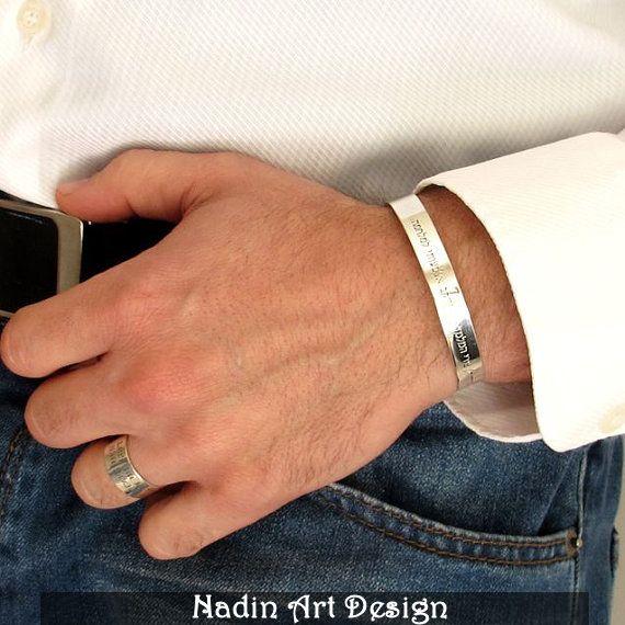 Personalisierter Schmuck / Gravur Armband für Mann von NadinArtDesign auf DaWanda.com