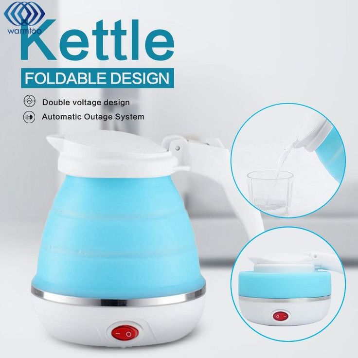 0.5L Electric Kettle Silicone Foldable 680W Portable Travel Camping Water Boiler Adjustable Voltage Home Electric Appliances-in Electric Kettles from Home Appliances on Aliexpress.com | Alibaba Group #HomeAppliancesCamping