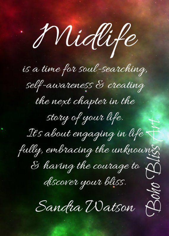 Midlife is a time for soul-searching, self-awareness ...