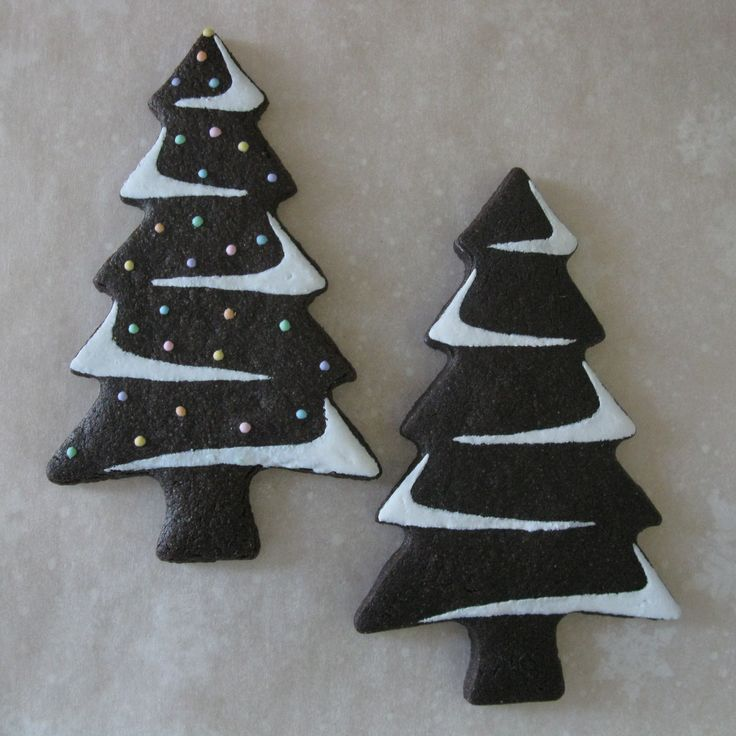 Christmas Trees - Chocolate Sugar Cookies By Emily Fager