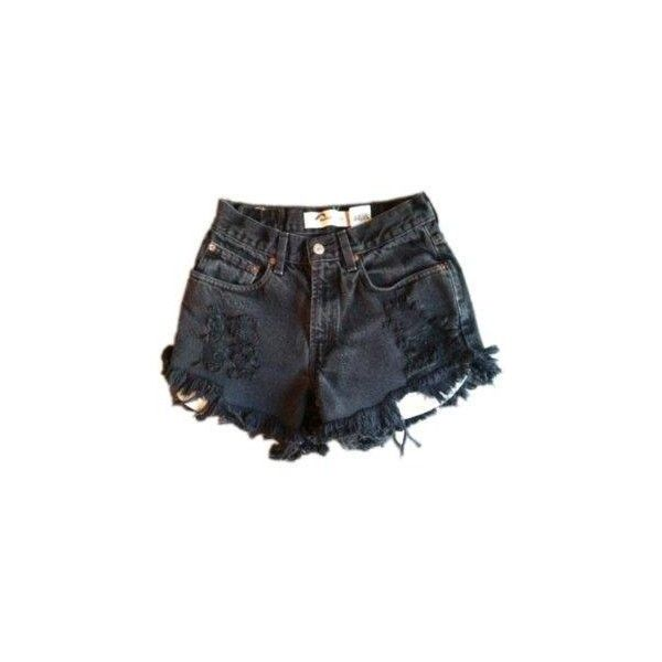 Faded black Levi cut off | Shorts Bottoms | Vintage cut off jeans... ($40) ❤ liked on Polyvore featuring shorts, bottoms, pants, denim shorts, cut-off shorts, cutoff jean shorts, vintage shorts, jean shorts and short denim shorts