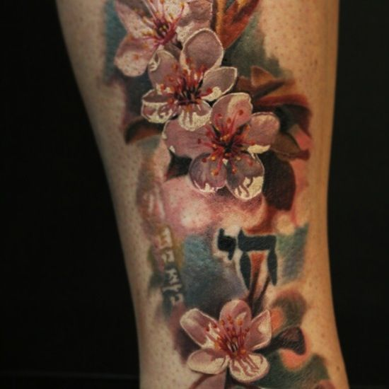 Realistic Cherry Blossom Tattoo Tattoo designs are said to
