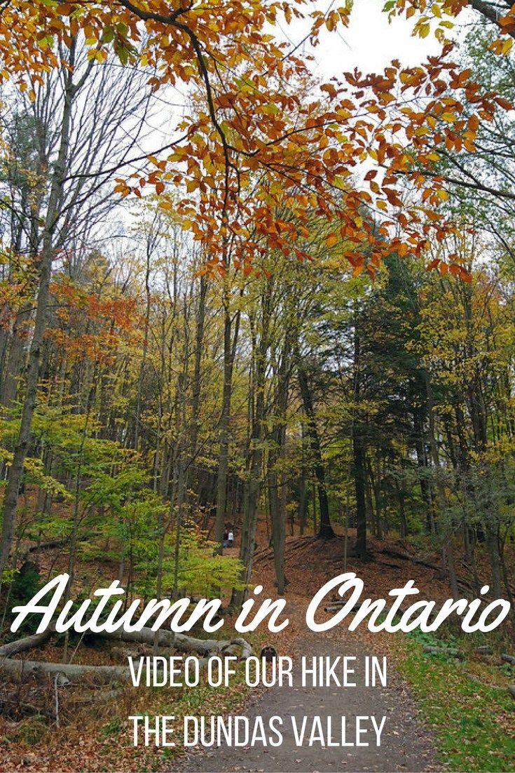 VIDEO: Autumn in Ontario - Hiking the Dundas Valley