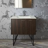 "Found it at AllModern - Jute 30"" Vanity with Furniture Legs, 1 Door and 1 Drawer On Right"