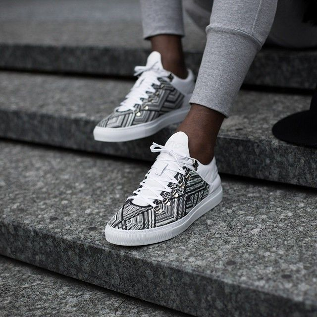 Filling Pieces Mountain Cut trainer in white TSA woven