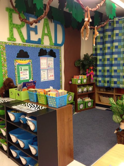Jungle Classroom Decoration ~ Jungle themed classroom reveal lots of pictures links