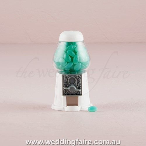Classic White Gumball Machine - The Wedding Faire  #bomboniere #favor #thankyougift #placecard #gumballmachine #minigumballmachine #whitegumballmachine #miniwhitegumballmachine