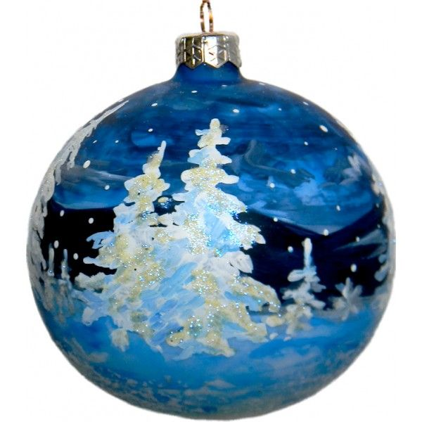 Vatican Christmas Ornaments Part - 23: Glass Christmas Ornament Made For Pope John Paul II Tree At The Vatican Of  The Podhale Forest In A Storm, A Forest And An Area In Southern Poland The  Pope ...