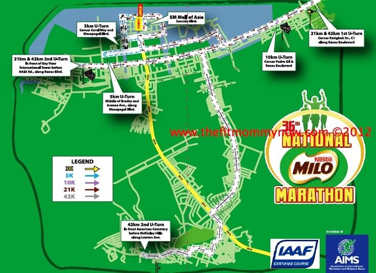 Manila Leg Milo Marathon Map 2012: Register online for the Milo Marathon Manila Leg on July 29, 2012