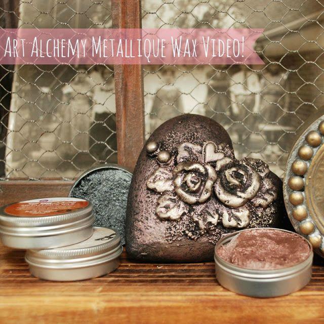 Finnabair: Art Alchemy Metallique Wax - video guide